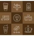 Coffee design set vector image