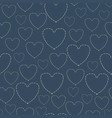 embroidery with hearts vector image
