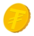 Gold coin with Mongolian Tugrik sign icon vector image