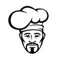 Hispanic chef in a white toque vector image