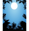 Jungle at night vector image
