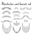 Man hair mustache beards collection Hipster vector image