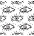 boho style eyes seamless pattern vector image