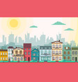 flat style modern city landscape vector image