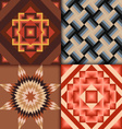 Retro colored geometric patterns background vector image
