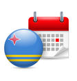 Icon of National Day in Aruba vector image