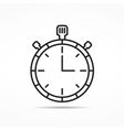 Stopwatch Line Icon vector image vector image
