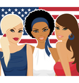 American girls vector image