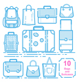 Bags and suitcases vector image