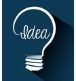 Big idea bulb design vector image