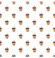 cherry cupcake pattern vector image