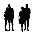 couple silhouette set in black color vector image