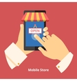 Mobile phone store vector image