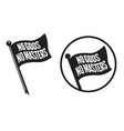 no gods no masters black flag icons vector image