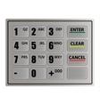 Realistic ATM keypad vector image