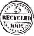 recycled stamp vector image