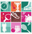 vintage sport symbols vector image