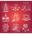 Christmas Hand Drawn Emblems vector image