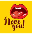 love you with vector image