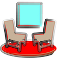 2 chairs vector image