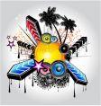 tropical disco vector image