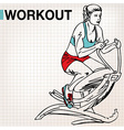 Fitness center young woman exercise vector image