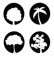 tree set black and white vector image