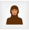 Arab woman in traditional clothes vector image