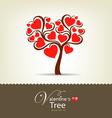 happy valentine day tree vector image