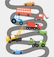 Abstract city road with different transport vector image