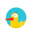 Childish Duck Fun Circle Icon vector image