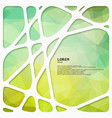 abstract green network background vector image