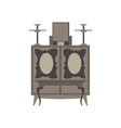 altar flat icon isolated front view black vector image