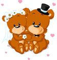 bear wedding vector image