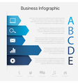 Business paper Graph vector image