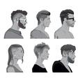 Cartoon hair styles vector image