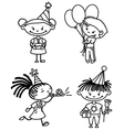 Children birthday set vector image