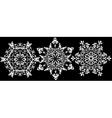 Christmas set snowflake vector image