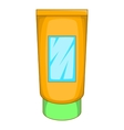 Cream tube icon cartoon style vector image