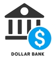 Dollar Bank Icon With Caption vector image