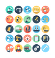 Factory Manufacturing Production Icons 1 vector image
