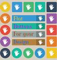 hand icon sign Set of twenty colored flat round vector image