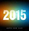 Happy new year on night sky vector image