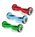 Multicolored gyroscopes personal eco transport vector image