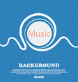 music sign icon Karaoke symbol Blue and white vector image