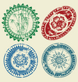 Postcard stamp set vector image
