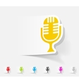 realistic design element microphone vector image