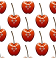 Seamless background pattern of ripe red cherries vector image