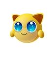 Cute animal emoji with big eyes cartoon character vector image vector image