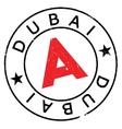 Dubai stamp rubber grunge vector image